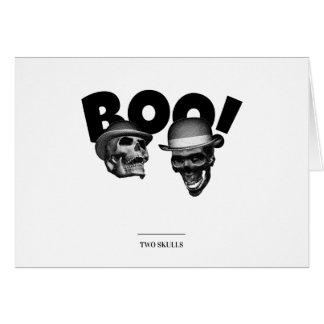 Cartão Vaia de dois crânios!