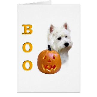 Cartão Vaia de Terrier branco de montanhas ocidentais
