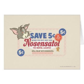 Cartão Vale de Tom e de Jerry Nosensatol