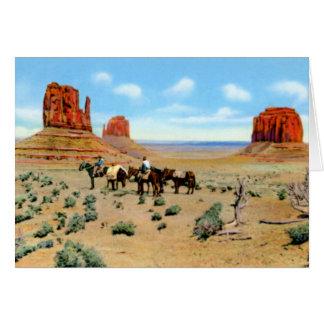 Cartão Vale do monumento da arizona