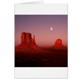 Cartão Vale Utá do monumento do Moonrise dos desertos