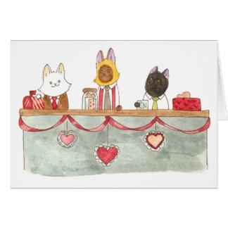 Cartão Valentine. da mesa da notícia de BCN