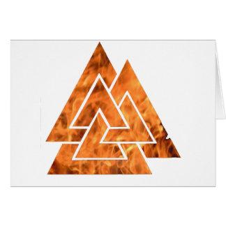 Cartão Valknut de queimadura