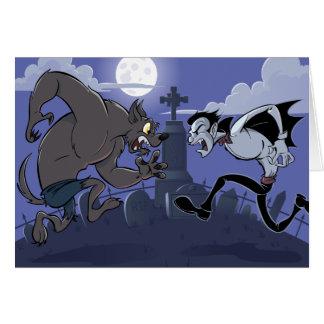 Cartão Vampiro contra o homem-lobo