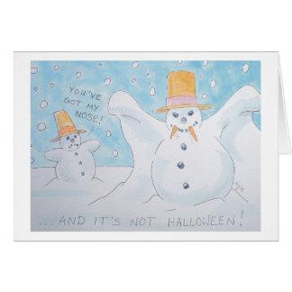 Cartão Vampiro do homem da neve