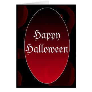 Cartão Vampiro gótico HappyHalloween