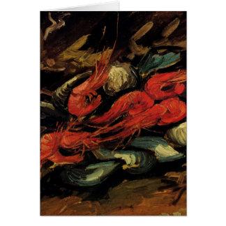 Cartão Van Gogh, mexilhões e camarão, do vintage vida