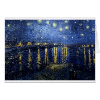 Cartão Van Gogh: Noite estrelado sobre o Rhone