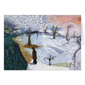 Cartão Van Gogh: Paisagem do inverno