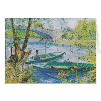 Cartão Van Gogh: Pont de Clichy (vazio para dentro)
