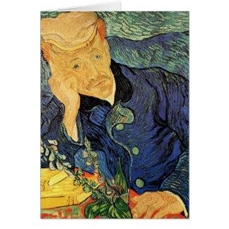 Cartão Van Gogh; Retrato do doutor Gachet, arte do