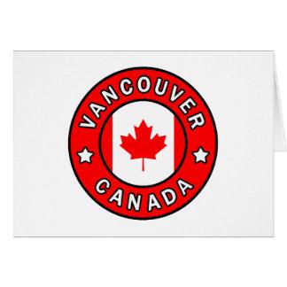 Cartão Vancôver Canadá