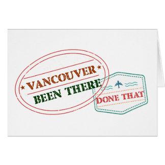 Cartão Vancôver feito lá isso