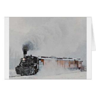 Cartão Vapor do inverno