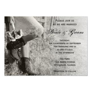 Cartão Vaqueira e casamento do rancho do país dos