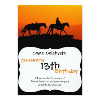 Cartão Vaqueiro-Vaqueiro-texas-ocidental-país ocidental