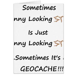 Cartão Vara ou Geocache