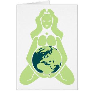 Cartão Variação grávida Europa da terra da deusa