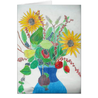 Cartão Vaso de flor por Lauren