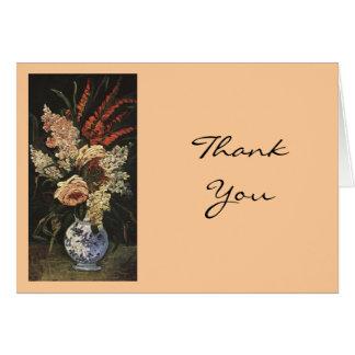 Cartão Vaso de Vincent van Gogh com tipos de flor e Lilac