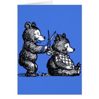 Cartão Vazio agradável do cabeleireiro de Beary