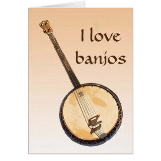 Cartão vazio alaranjado de instrumento musical do