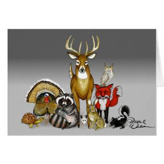 Cartão vazio animal da floresta