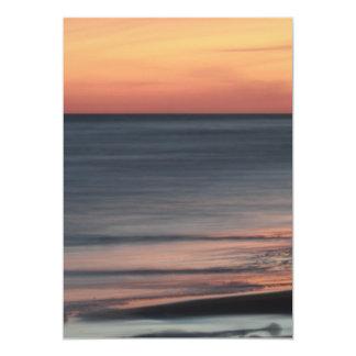 Cartão Vazio bonito da celebração do por do sol do
