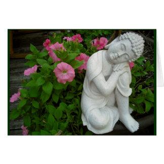 Cartão vazio calmo de Buddha