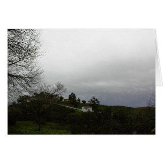 Cartão vazio: Céu tormentoso em Templeton