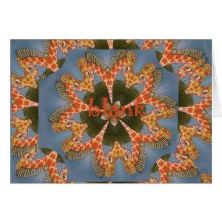 Cartão Vazio colorido africano surpreendente bonito do