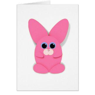Cartão vazio cor-de-rosa de Bunn