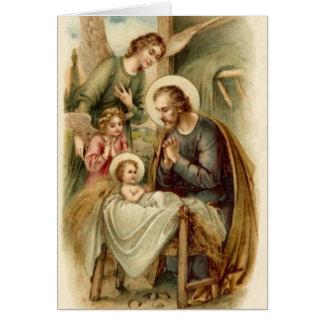 Cartão (vazio/costume): Natividade de St Joseph