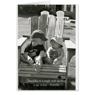 Cartão vazio da amizade