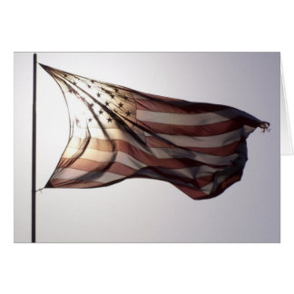 Cartão vazio da bandeira americana