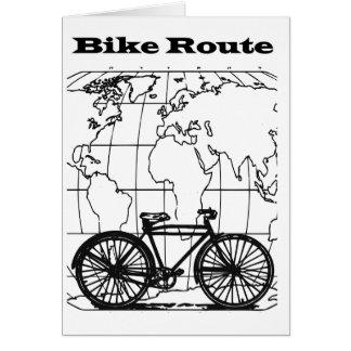 Cartão vazio da bicicleta