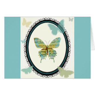 CARTÃO VAZIO da borboleta da partitura