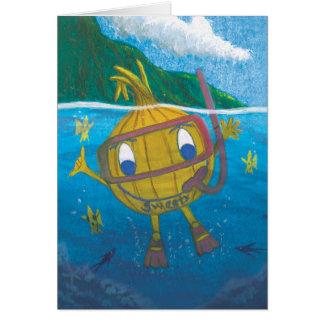 cartão vazio da cebola do sweety do snorkel