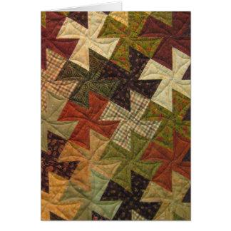 Cartão vazio da edredão do Pinwheel