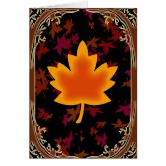 Cartão vazio da folha da queda