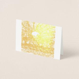 Cartão vazio da folha do nascer do sol do