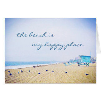 """Cartão """"Vazio da foto da praia do céu do aqua do lugar"""