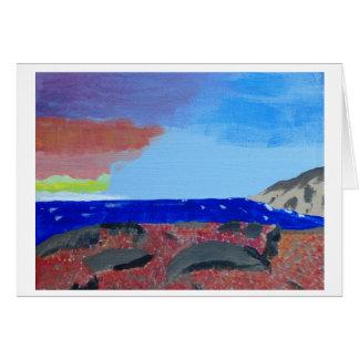 Cartão vazio da pintura cénico