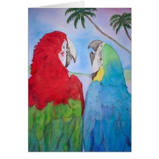 Cartão Vazio da pintura da aguarela dos pares do casal do