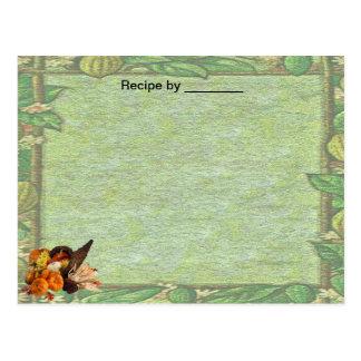Cartão vazio da receita da beira da queda