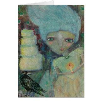 Cartão vazio da senhorita Haversham