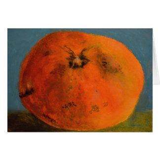 Cartão vazio da tangerina