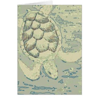 Cartão vazio da tartaruga do fantasma