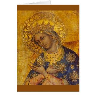 Cartão vazio da Virgem Maria