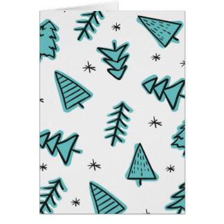 Cartão vazio das árvores de Natal